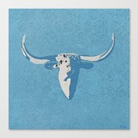 cow Canvas Prints featuring Cow by Saundra Myles