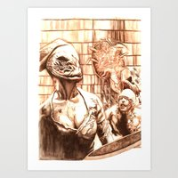 silent hill Art Prints featuring Silent Hill a by Joseph Silver