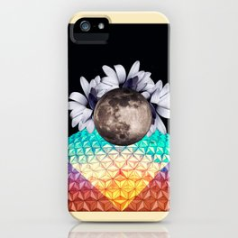 Beyond the moon and back iPhone Case