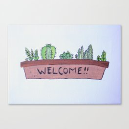 Welcoming Succulents Canvas Print