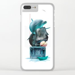BREATHE (Totem of the Dolphin) Clear iPhone Case