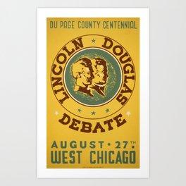 Lincoln-Douglas Debate - WPA - 1939 Art Print