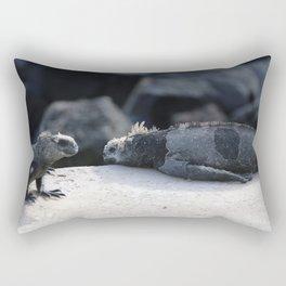 Exhausted Iguanas Rectangular Pillow