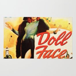 Vintage Movie Posters, Doll Face Rug