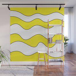 Lines Yellow Wall Mural
