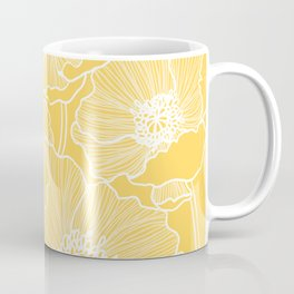 Sunshine Yellow Poppies Coffee Mug