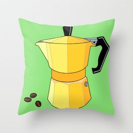 Yellow Rainbow Espresso Throw Pillow