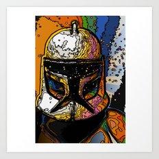 Funky Bucket Head Art Print