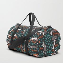 Dachshund year - lettering pattern Duffle Bag