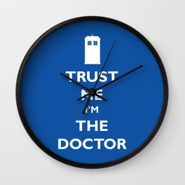 Trust me, I'm the Doctor Wall Clock