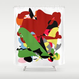 Forest of Colors, Abstract Art Shower Curtain