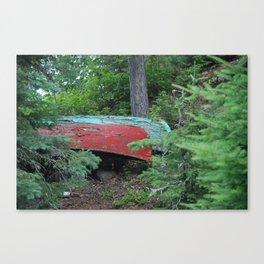 Two Canoes at Gordon Island Canvas Print