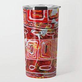 Orange Maze Travel Mug