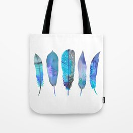 Feathers / Harmony in Blue Tote Bag
