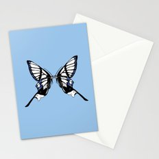 Mirror Butterfly Stationery Cards