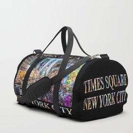 Times Square Tourists (on black) Duffle Bag