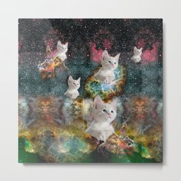 KITTENS IN SPACE Metal Print