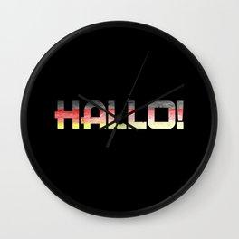 Hallo! Wall Clock
