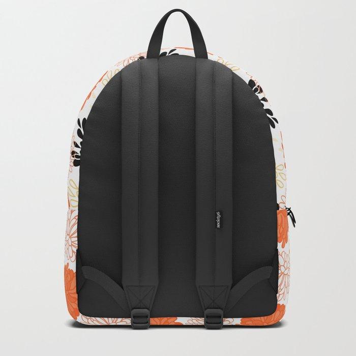 Flowers Pattern Backpack
