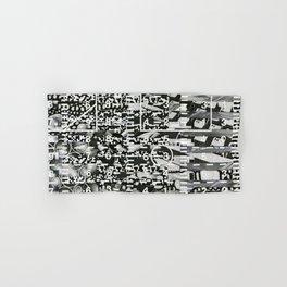 Variance Police (P/D3 Glitch Collage Studies) Hand & Bath Towel