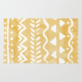 Loose bohemian pattern - yellow Rug