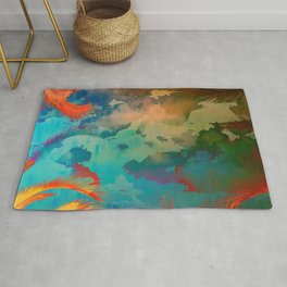 A place for lying down and look up / Botanic Rug