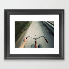 Faster Framed Art Print