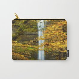 Waterfall Golden Autumn Leaves Carry-All Pouch
