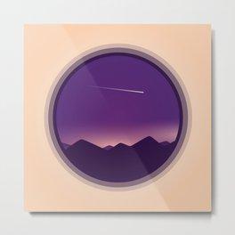 Galaxy Circle Artwork Metal Print