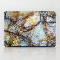 grey iPad Cases featuring Marble by Patterns and Textures
