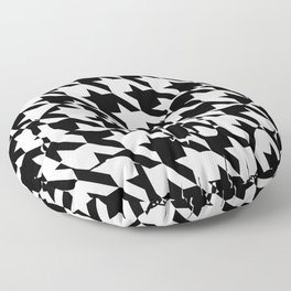 HOUNDSTOOTH SKULL #2 Floor Pillow