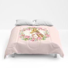 Giraffe high tea Comforters