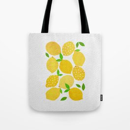 Lemon Crowd Tote Bag