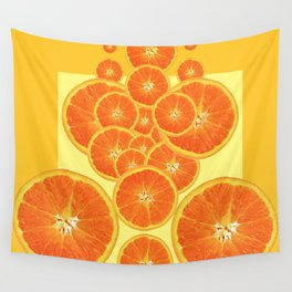 CONTEMPORARY ORANGE SLICES  ABSTRACT MODERN ART Wall Tapestry