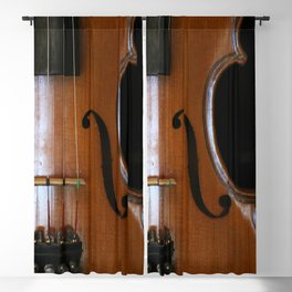 Close-up of Beautiful Violin Black Background #decor #society6 #buyart Blackout Curtain