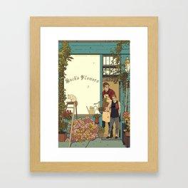 Buck's Flower Shop Framed Art Print