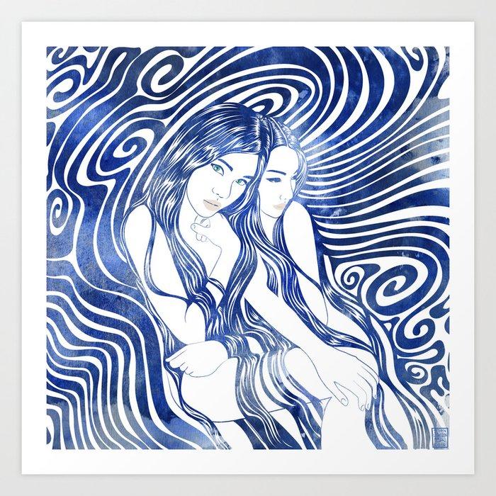 Water Nymphs Art Print
