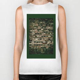 Dark ivy hedge creeper on wall Biker Tank