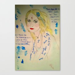 The Goddess of Poetry Canvas Print