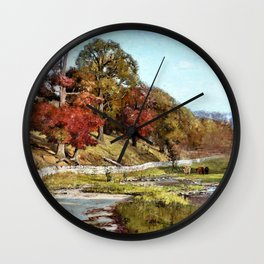 Oaks of Vernon - Theodore Clement Steele Wall Clock