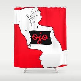 Ojo-square Shower Curtain