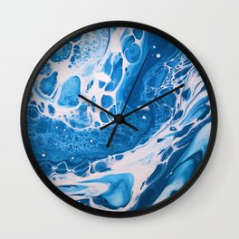Glossy Currents 2 Wall Clock