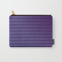Blue Horizontal Parallel Lines  Carry-All Pouch