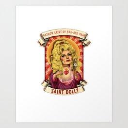 Saint Dolly Art Print