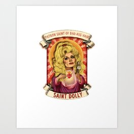 Saint Dolly Art Print