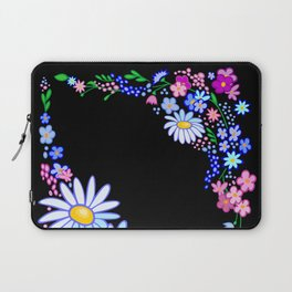 Abstract flowers frame Laptop Sleeve