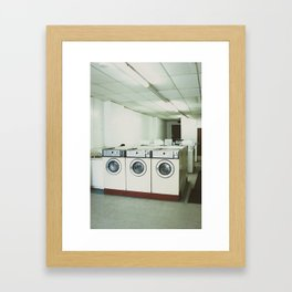 Grungy Laundromat Framed Art Print