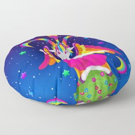 1997 Neon Rainbow Baphomet Floor Pillow
