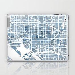 Washington DC Blueprint watercolor map Laptop & iPad Skin