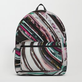Marble Wisdom Love Veins Violet Blue 2 Backpack